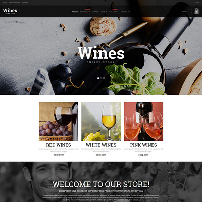 Wine Responsive Shopify Theme (Shopify theme for wine, coffee, juice, tea, and other drinks) Item Picture