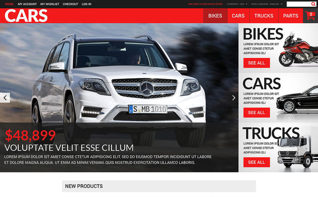 11 of the Best Car, Vehicle, & Automotive Magento Themes