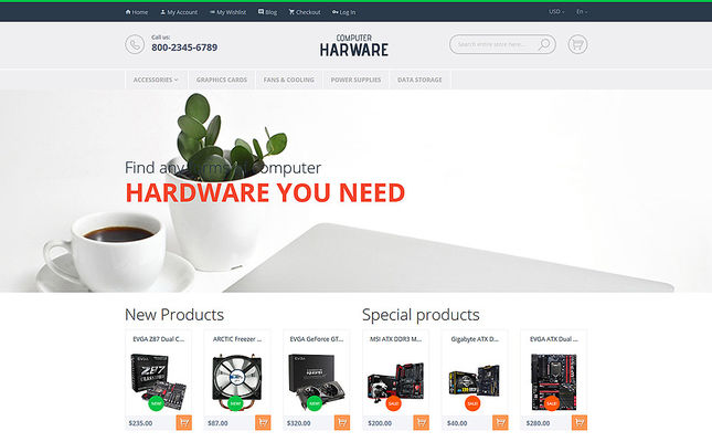 11 of the Best Magento Themes for Selling Computers & Hardware