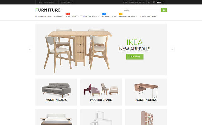 9 of the Best Magento Themes for Furniture Stores