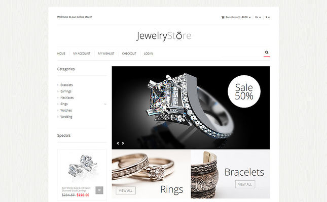 11 of the Best Magento Themes for Selling Jewelry & Watches