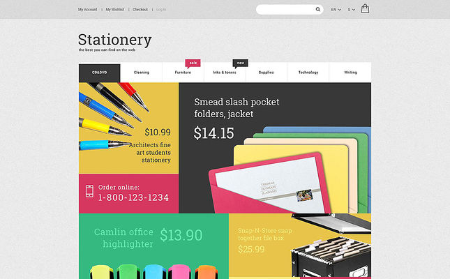 10 of the Best Magento Themes for Office Supplies & Stationery