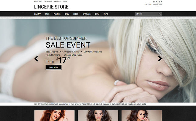 6 of the Best Magento Themes for Selling Lingerie & Underwear