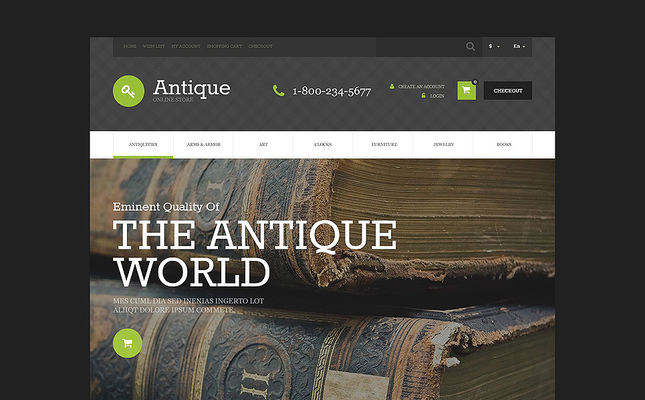 6 of the Best OpenCart Themes for Antique Stores