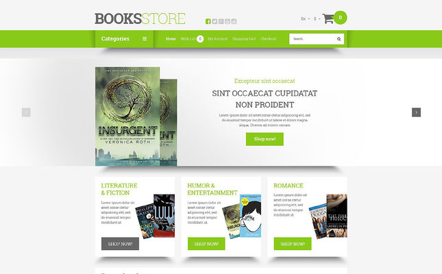 5 of the Best OpenCart Themes for Book Stores