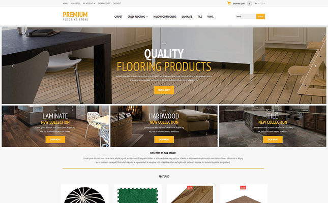 9 of the Best OpenCart Themes for Flooring Stores