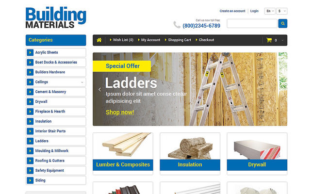 8 of the Best OpenCart Themes for Home Improvement & Construction Supply Stores