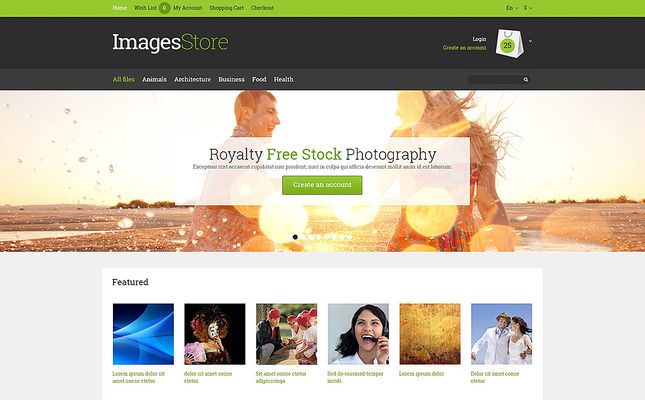 5 of the Best OpenCart Themes for Stock Photography Stores