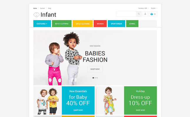 11 of the Best PrestaShop Themes for Clothing for Babies, Children, & Kids