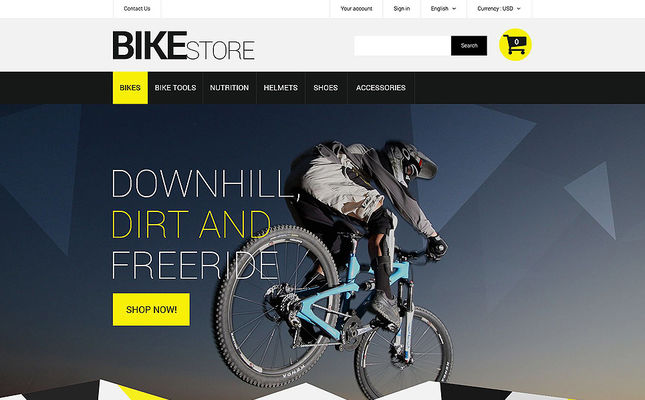 7 of the Best PrestaShop Themes for Bicycles & Cycling Equipment