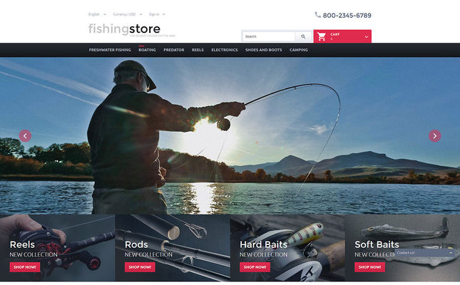 11 of the Best PrestaShop Themes for Fishing Stores