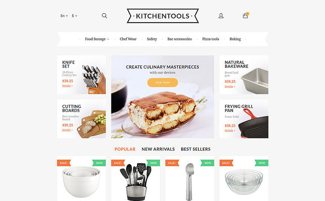 15 of the Best PrestaShop Themes for Homewares & Cooking Supplies