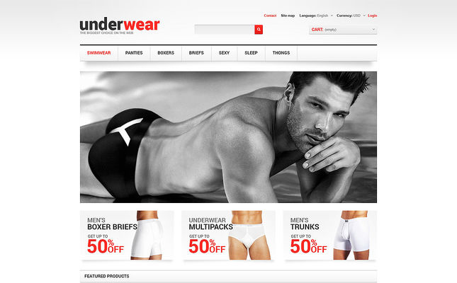 5 of the Best PrestaShop Themes for Mens Underwear