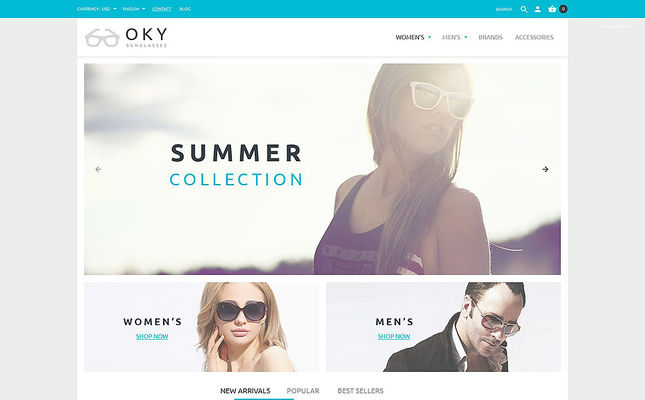 11 of the Best PrestaShop Themes for Sunglasses & Eyewear