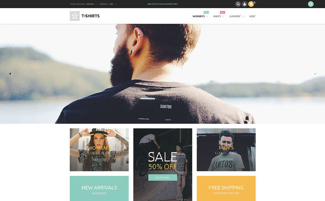 5 of the Best PrestaShop Themes for T-shirt Stores