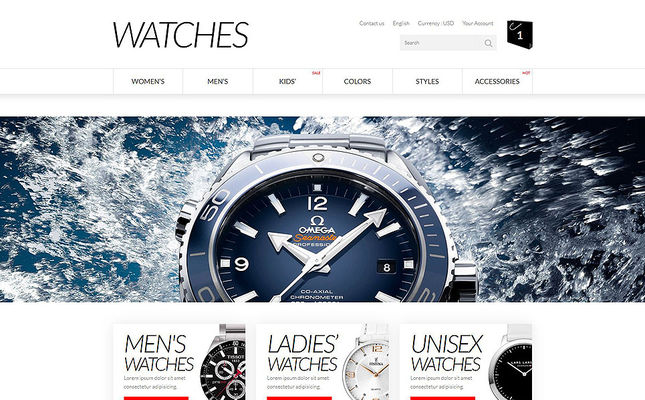 9 of the Best PrestaShop Themes for Watch Stores