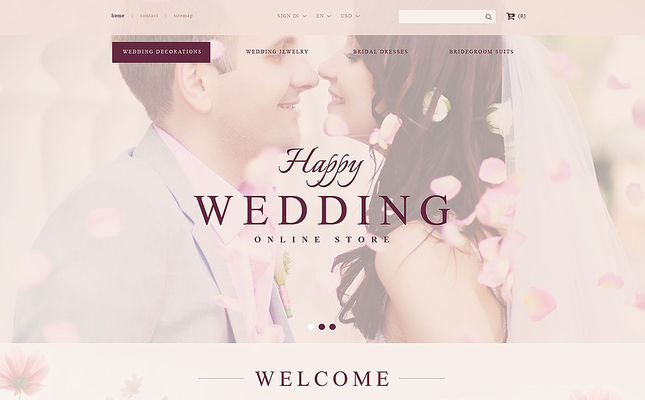 12 of the Best PrestaShop Themes for Wedding Stores