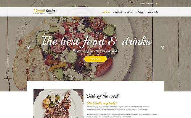 12 of the Best Drupal Themes for Restaurants