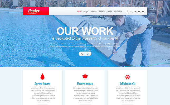 6 of the Best WordPress Themes for Pool Cleaning Companies & Services