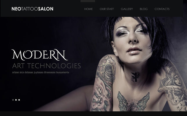 7 of the Best WordPress Themes for Tattoo Studios