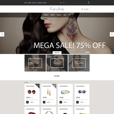 Handmade Jewelry OpenCart Template (OpenCart theme for selling jewelry and watches) Item Picture