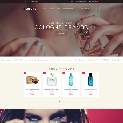 Perfume Shop OpenCart Template (OpenCart theme for selling cosmetics, hair products, and perfumes) Item Picture