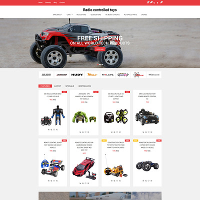 Radio Controlled Toys Responsive OpenCart Template (OpenCart theme for kids toys) Item Picture