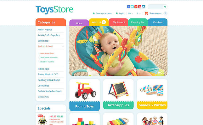 8 of the Best OpenCart Themes for Kids' Toys