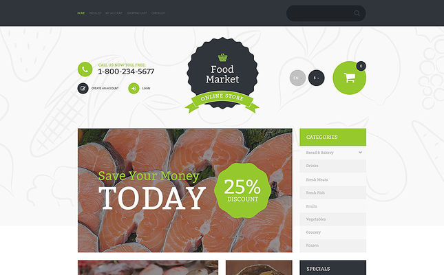 21 of Best OpenCart Themes for Selling Food & Spices