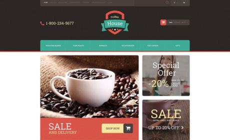 5 of the Best OpenCart Themes for Selling Tea & Coffee
