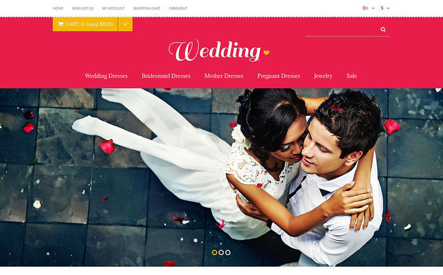 6 of the Best OpenCart Themes for Wedding Stores