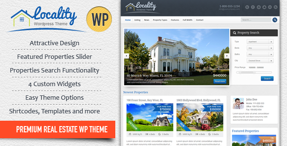 Locality (real-estate WordPress theme) Item Picture