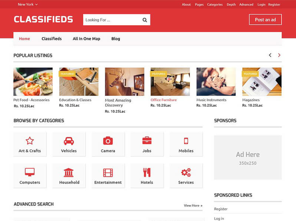 Classifieds (classified ads WordPress theme) Item Picture