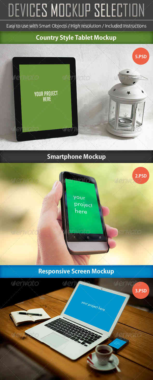 Devices Mockup Bundle 3 in 1
