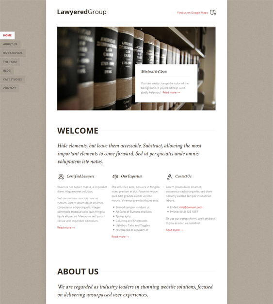 lawyered group one page drupal theme