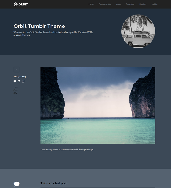 orbit dark tumblr theme