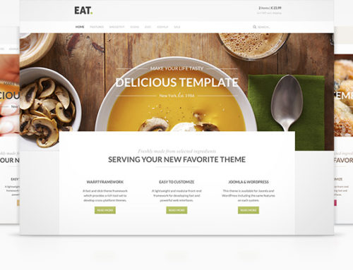 YooTheme Releases 'Eat' Restaurant Joomla & WordPress Template