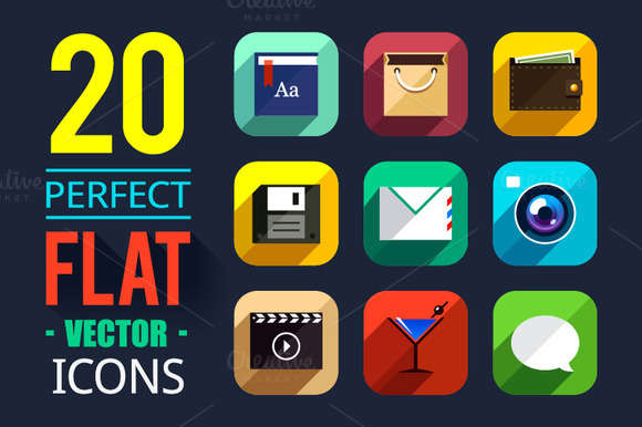 25% OFF! 20 Flat App Icons 1.2