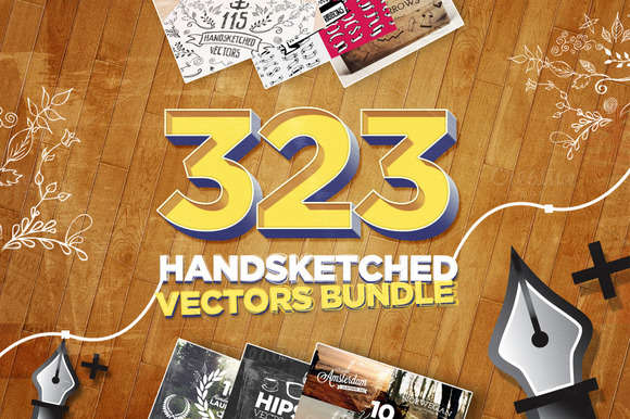 323 Handsketched Vectors Bundle