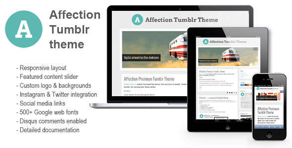 Affection - a responsive Tumblr theme