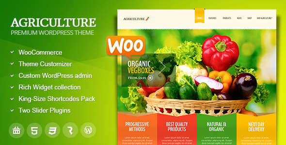 Agriculture - All-in-One WooCommerce WP Theme
