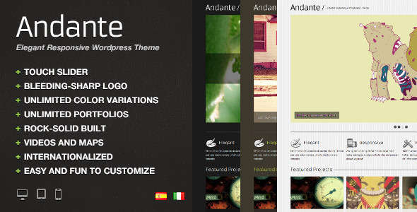 Andante WP - Elegant Responsive WordPress Theme
