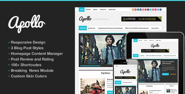 Apollo Modern Magazine Newspaper Template