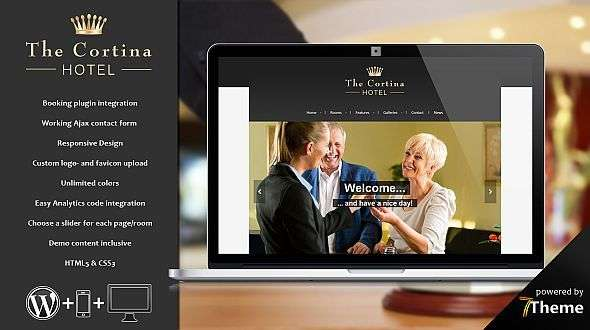 Cortina - a classic WordPress Hotel Theme