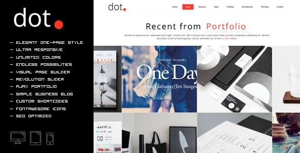 DOT - Creative One Page Multi-Purpose Theme
