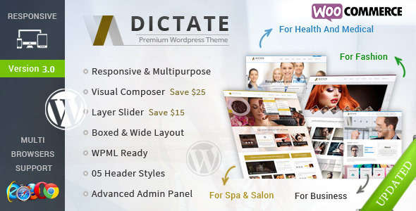 Dictate - Business, Fashion, Medical, Spa WP Theme