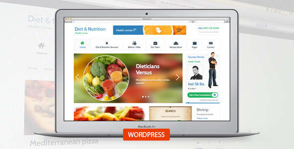 Diet & Nutrition Health Center-Wordpress Theme