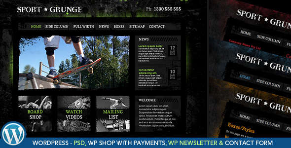 Dirt, Sport and Grunge - WooCommerce Shop Theme