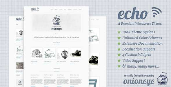 Echo: Clean and Simple WordPress Portfolio Theme