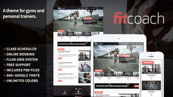 Fit Coach WordPress Theme